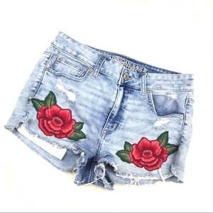 American Eagle Outfitters Shorts - American Eagle Hi Rise Shortie Denim Shorts
